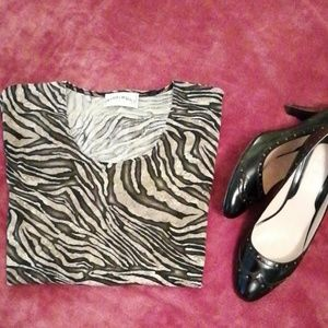 Frazier Lawrence petite animal print top